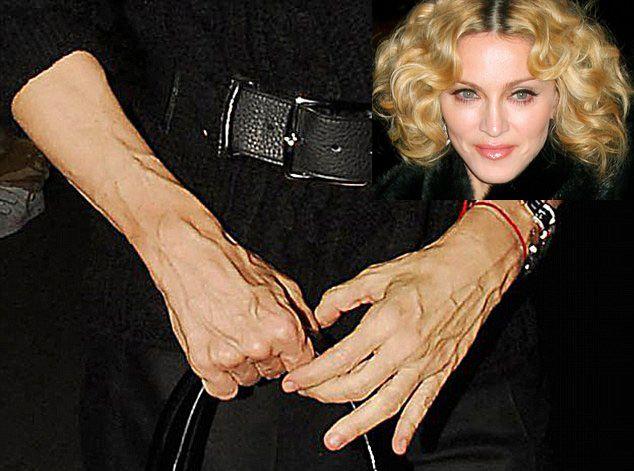Madonna's hands